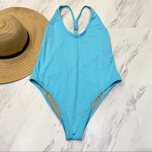 New! VYB Y Back Blue One Piece Swimsuit S